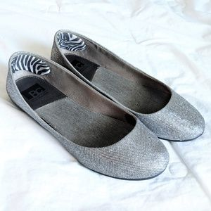 BC Footwear Limousine Mesh Silver Metallic Flats